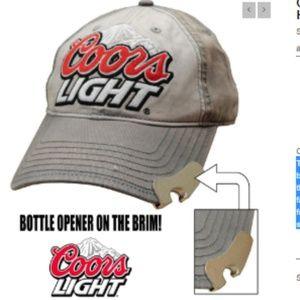 Other - Mens Coors Light Bottle Opener Baseball Cap